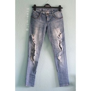 Mossimo   Distressed Studded Low Rise Skinny Jeans